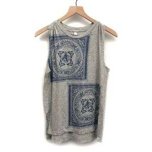 Anthropologie TINY Grey & Blue Tank Top - Size S
